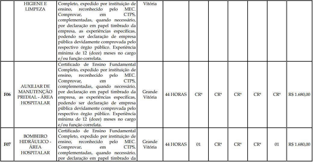 cargos 1 131 - Processo Seletivo Fundação Inova Capixaba - ES