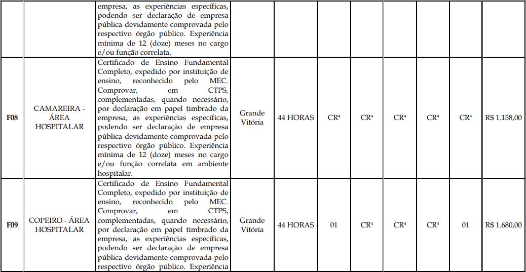 cargos 1 132 - Processo Seletivo Fundação Inova Capixaba - ES
