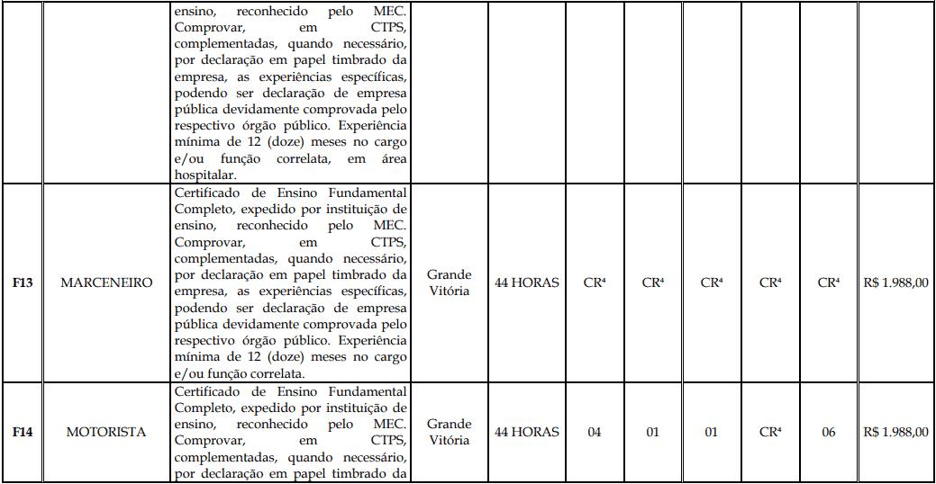 cargos 1 134 - Processo Seletivo Fundação Inova Capixaba - ES