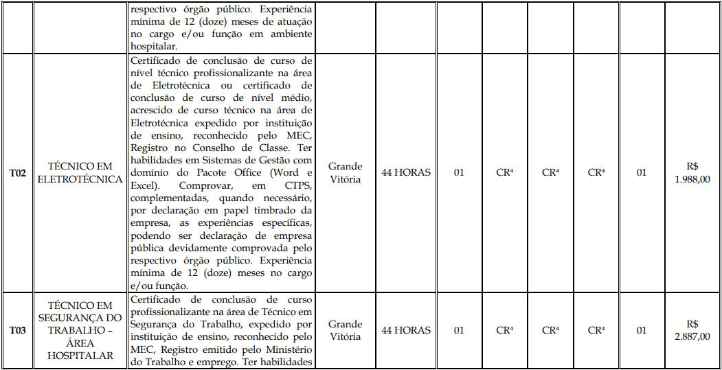 cargos 1 143 - Processo Seletivo Fundação Inova Capixaba - ES