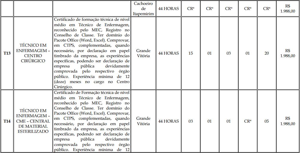 cargos 1 150 - Processo Seletivo Fundação Inova Capixaba - ES