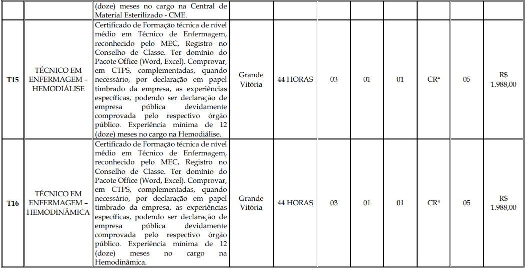 cargos 1 151 - Processo Seletivo Fundação Inova Capixaba - ES