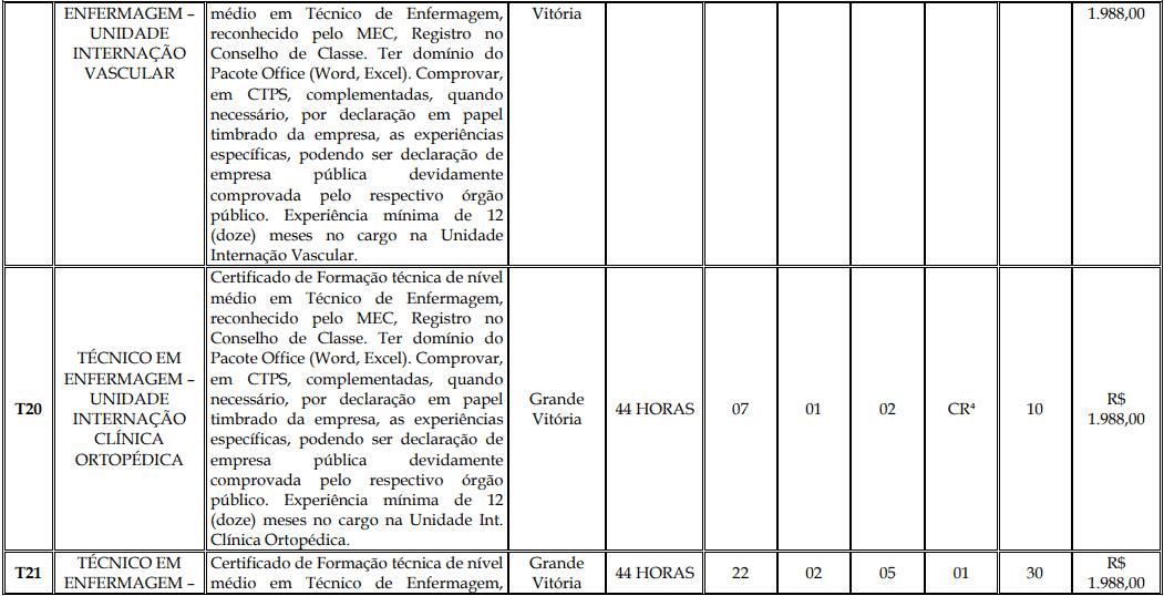 cargos 1 153 - Processo Seletivo Fundação Inova Capixaba - ES