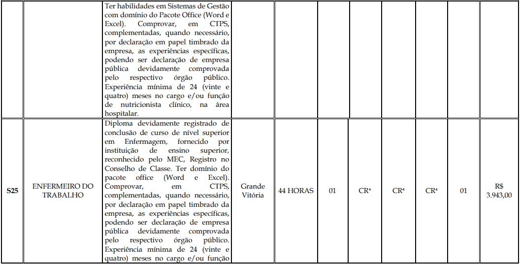 cargos 1 172 - Processo Seletivo Fundação Inova Capixaba - ES