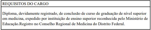 cargos 1 283 - Processo Seletivo Secretaria de Saúde do Distrito Federal