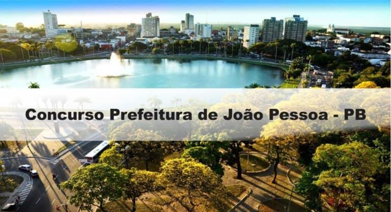 Concurso Prefeitura de João Pessoa PB: Inscrições encerradas