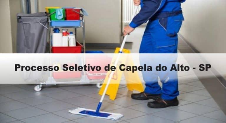Processo Seletivo Prefeitura de Capela do Alto – SP: Inscrições encerradas