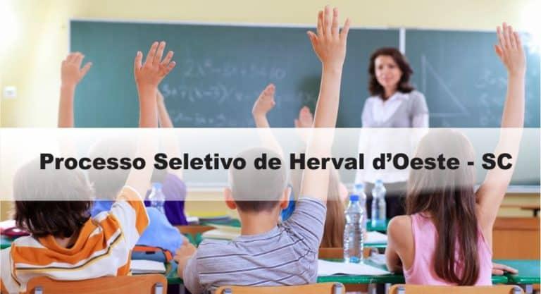Processo Seletivo Prefeitura de Herval d'Oeste – SC