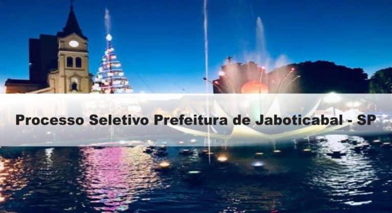 Processo Seletivo Prefeitura de Jaboticabal - SP ...