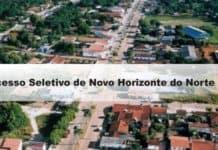 Processo Seletivo Prefeitura de Novo Horizonte do Norte-MT