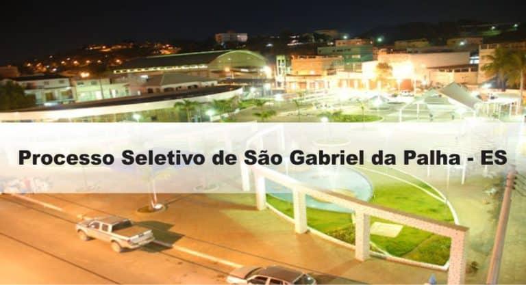 Processo Seletivo Prefeitura de São Gabriel da Palha – ES