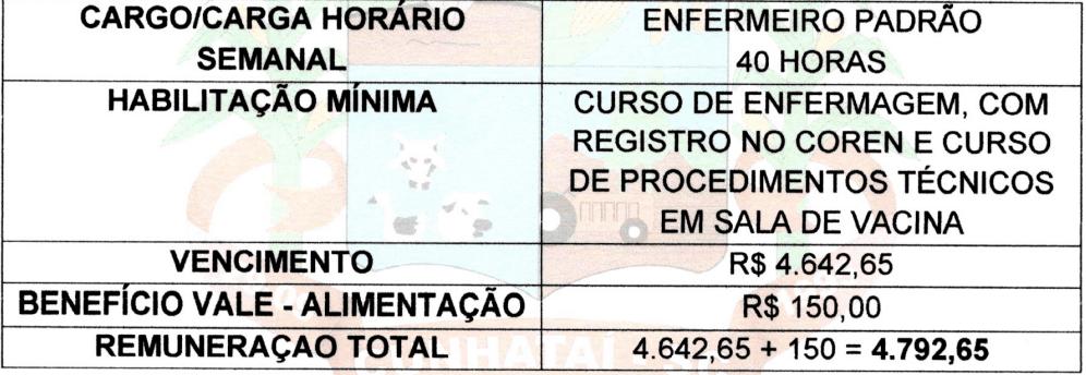 cargos 1 109 - Processo Seletivo Prefeitura de Cunhataí-SC