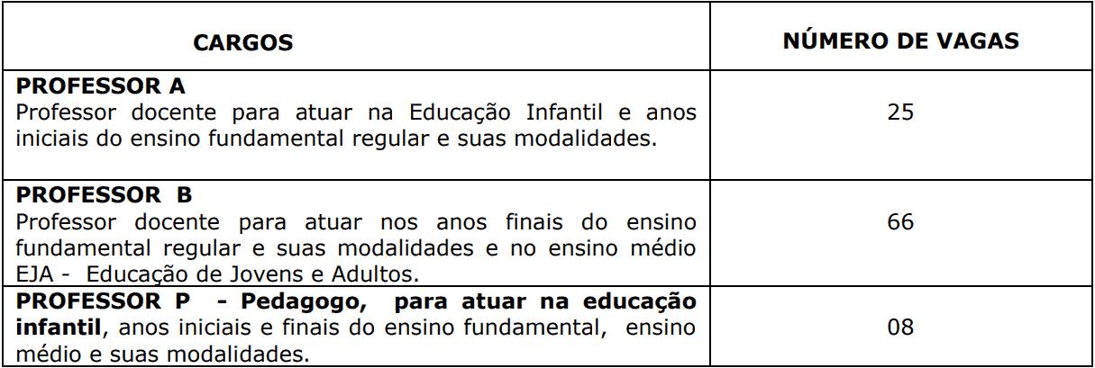 cargos 1 119 - Processo Seletivo Prefeitura de Domingos Martins-ES