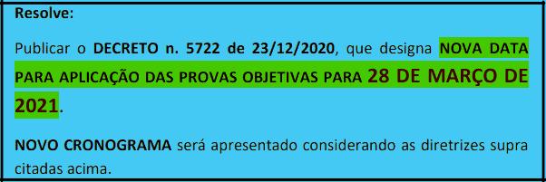 cronograma  - Concurso Prefeitura de Carmo (RJ): Provas dia 28/03/2021