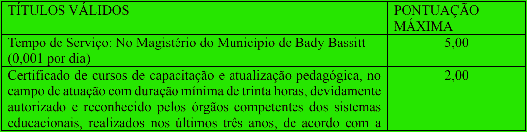 prova de titulos 1 41 - Processo Seletivo Prefeitura de Bady Bassitt - SP: Provas dia 10/01/21