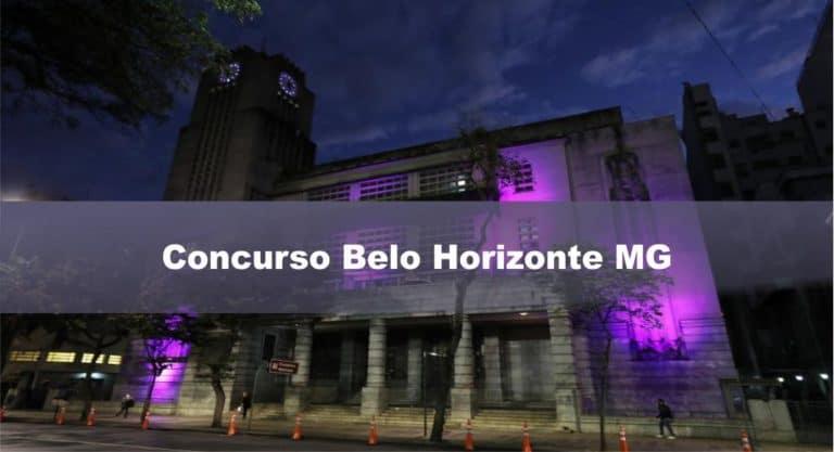 Concurso Belo Horizonte MG: Inscrições encerradas