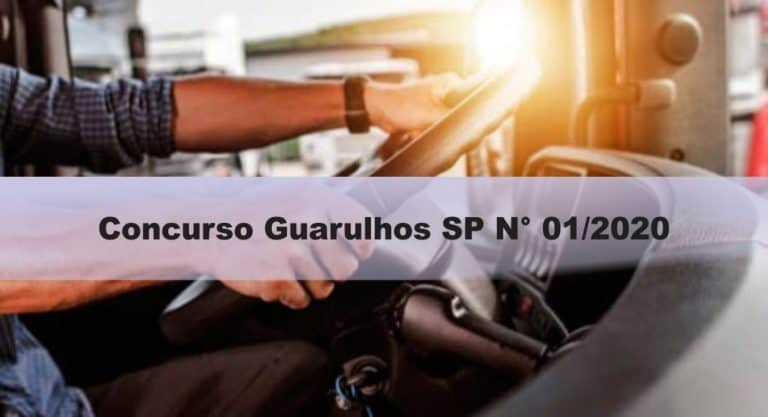 Concurso Guarulhos SP N° 01/2020: Inscrições abertas. SAIBA MAIS!