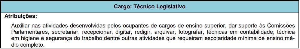 cargos 1 82 - Concurso Câmara de Cuiabá MT: Edital publicado! VEJA!