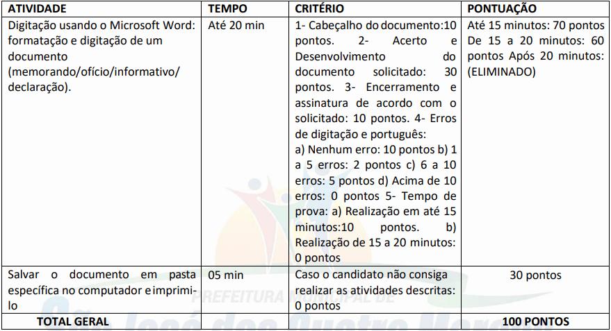 prova pratica 1 7 - Concurso São José dos Quatro Marcos MT: Inscrições encerradas