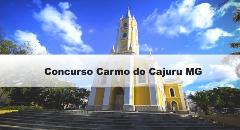 Concurso Carmo do Cajuru MG: Inscrições abertas. Veja!