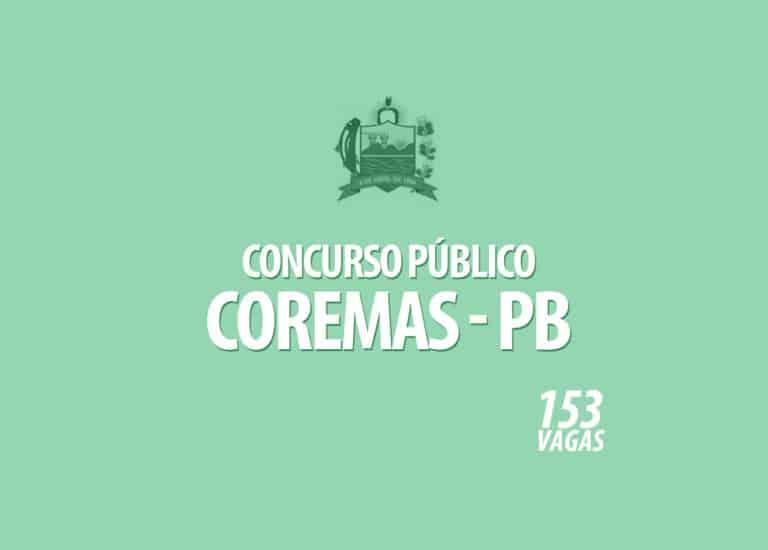 Concurso para a Prefeitura de Coremas – PB – 153 VAGAS