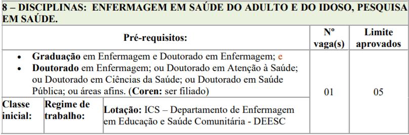 6 2 - Processo seletivo para Professor Substituto UFTM: Inscrições encerradas