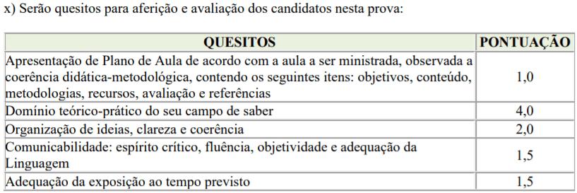 prova 6 - Processo seletivo para Professor Substituto UFTM: Inscrições encerradas