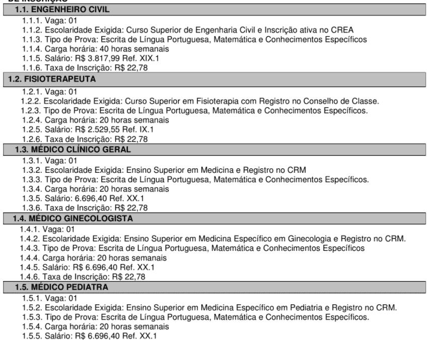 c1 38 - Concurso Público Prefeitura de Itatinga: Inscrições encerradas