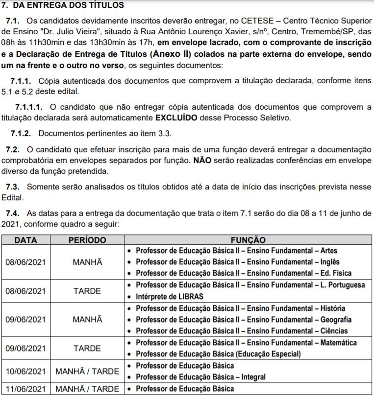 t2 9 - Processo Seletivo Prefeitura de Tremembé-SP: Inscrições encerradas