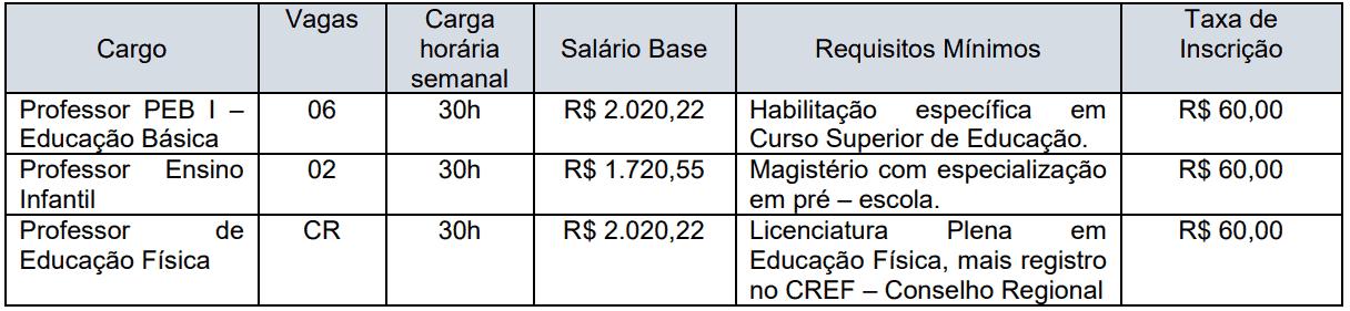 Captura de tela 2021 07 27 133438 - Processo seletivo Prefeitura de Rubiácea SP: Inscrições encerradas