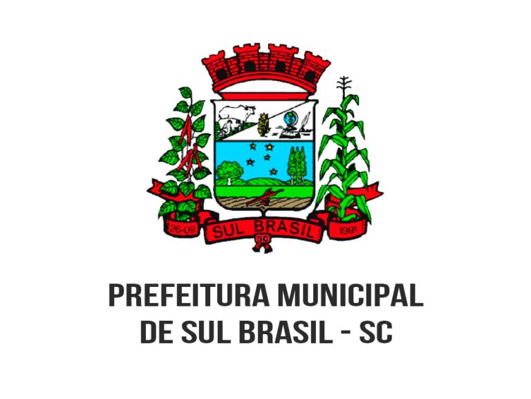 Concurso Público Prefeitura de Sul Brasil-SC: Inscrições encerradas