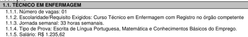 c1 4 - Concurso São Pedro do Turvo SP: Inscrições encerradas