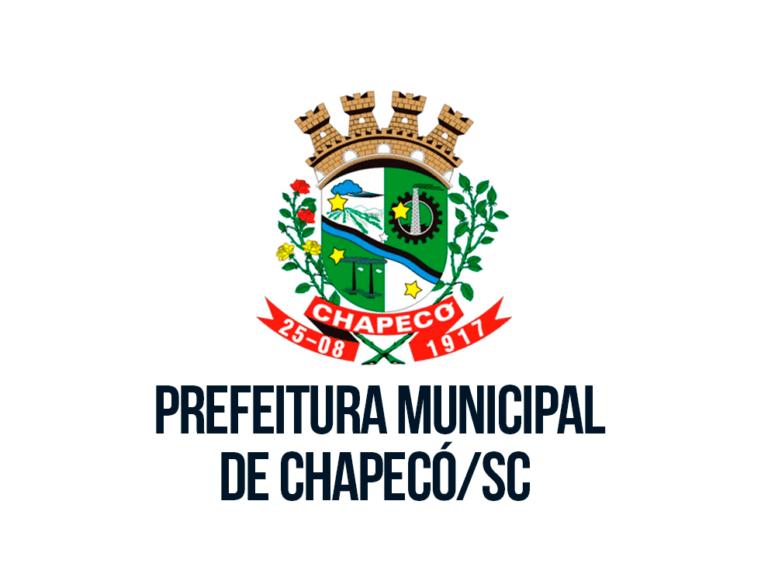 Processo Seletivo Prefeitura de Chapecó – SC: Inscrições Abertas